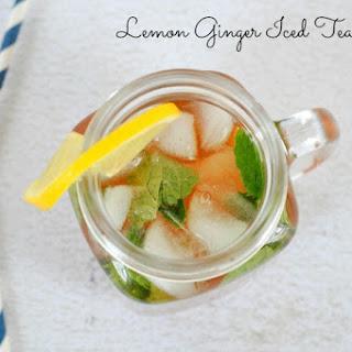 Lemon Ginger Iced Tea Mojito