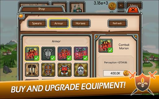 Knight Joust Idle Tycoon APK MOD – Monnaie Illimitées (Astuce) screenshots hack proof 2