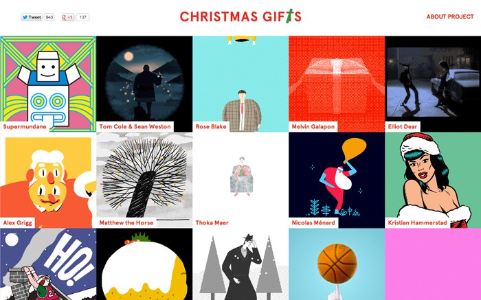 Photo: Site of the Day 23 December 2012 http://www.awwwards.com/web-design-awards/christmas-gifts-gifs