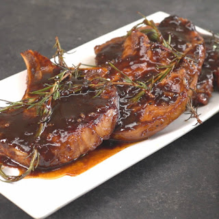 Honey Balsamic Glazed Pork Chops