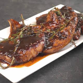 Honey Balsamic Glazed Pork Chops.