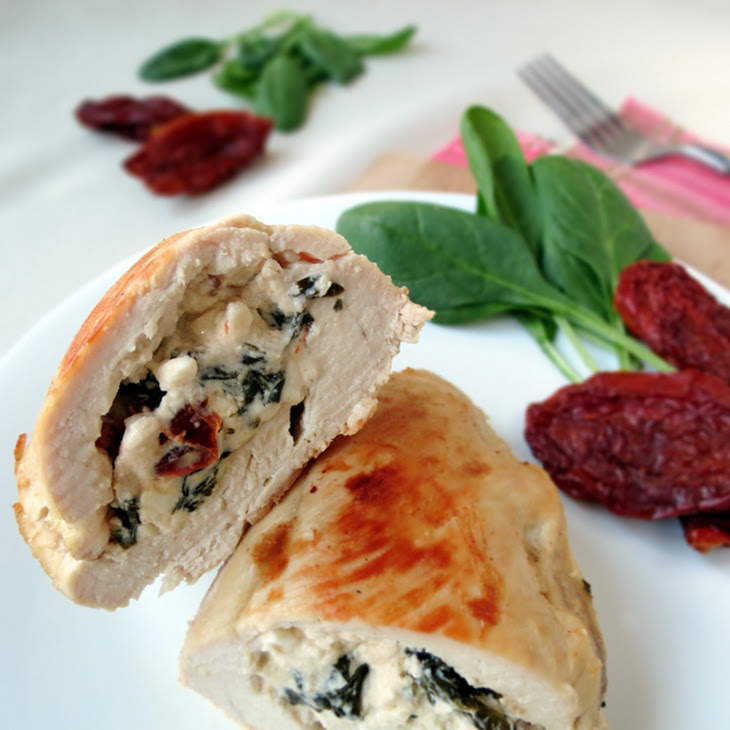 Chicken Stuffed With Spinach, Feta And Sun-Dried Tomatoes Recipe ...