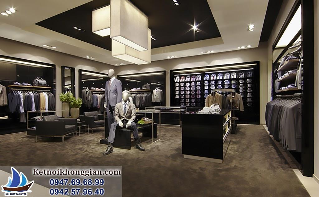 thiết kế cửa hàng thời trang nam chất lượng tốt nhất
