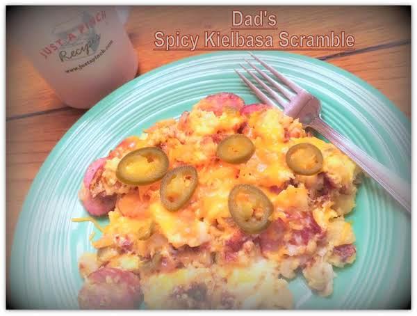 Dad's Spicy Kielbasa Scramble