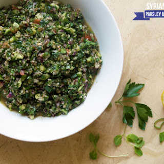 Syrian Parsley and Bulgur Salad.
