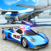 US City Police Car Transport Airplane