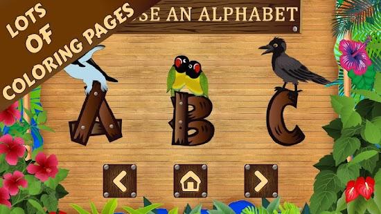 Bird Alphabet Coloring Book Screenshot Thumbnail