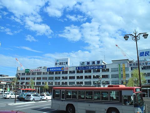 名鉄バス「名古屋~新潟線」 車窓 その1 新潟駅前通過