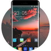 Theme for natural sunset bay wallpaper icon