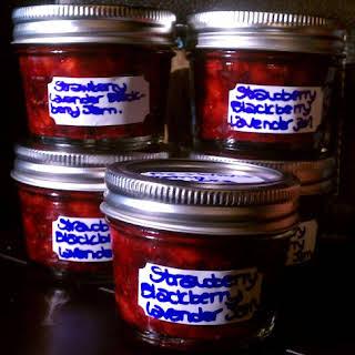 Strawberry Blackberry Jam with Lavender.