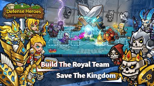 Defense Heroes: Defender War Offline Tower Defense android2mod screenshots 1
