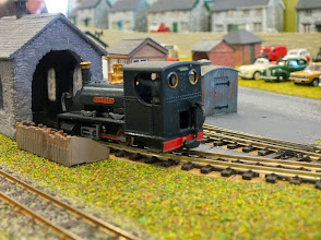 Photo: 008 Large Quarry Hunslet 0-4-0ST Nellie on shed at Dragon's Lair .