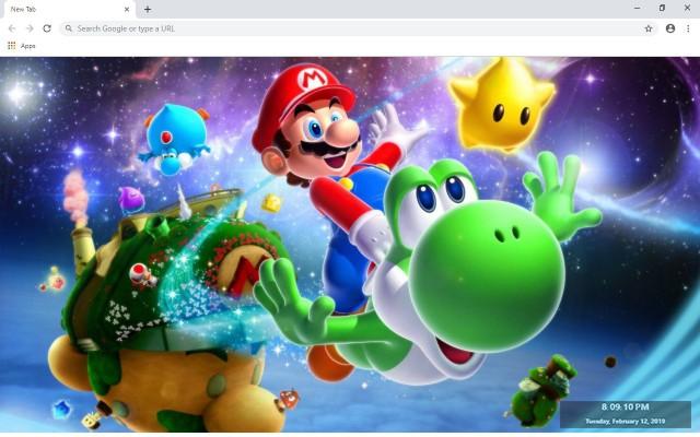 Super Mario Run New Tab
