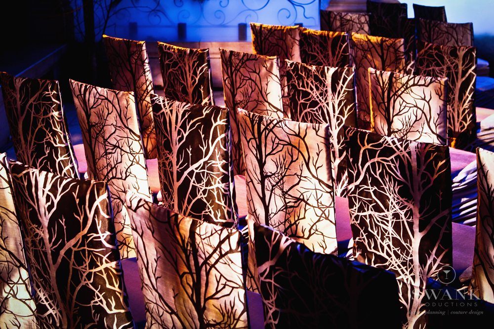 Photo: #Chair Covers, #Halloween Wedding Halloween Inspired Wedding. Wedding Planning, Event Design & Production by SWANK Productions at Hempstead House at Sands Point Preserve, www.swankproducti...