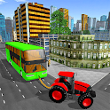 City Tractor Driving Game : Offline Rescue Duty icon