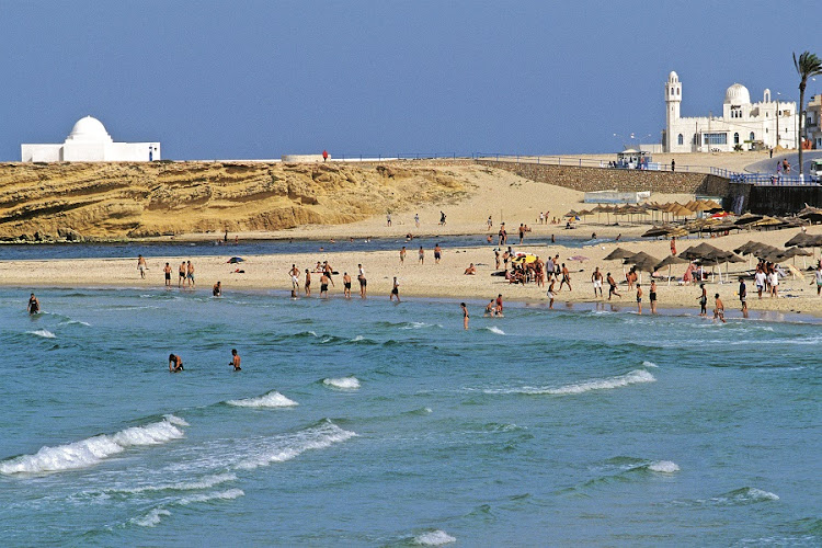 In Tunisia, the country's race groups — Arab, Amazigh, Black, and European — mingle on its beaches. Picture: NICOLAS THIBAUT
