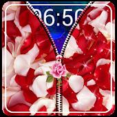 Rose Petals Zipper Lock Screen