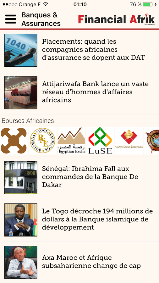 Financial Afrik- screenshot