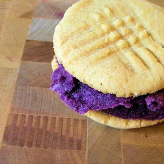 """Pb & J"" Ice Cream Sandwiches"