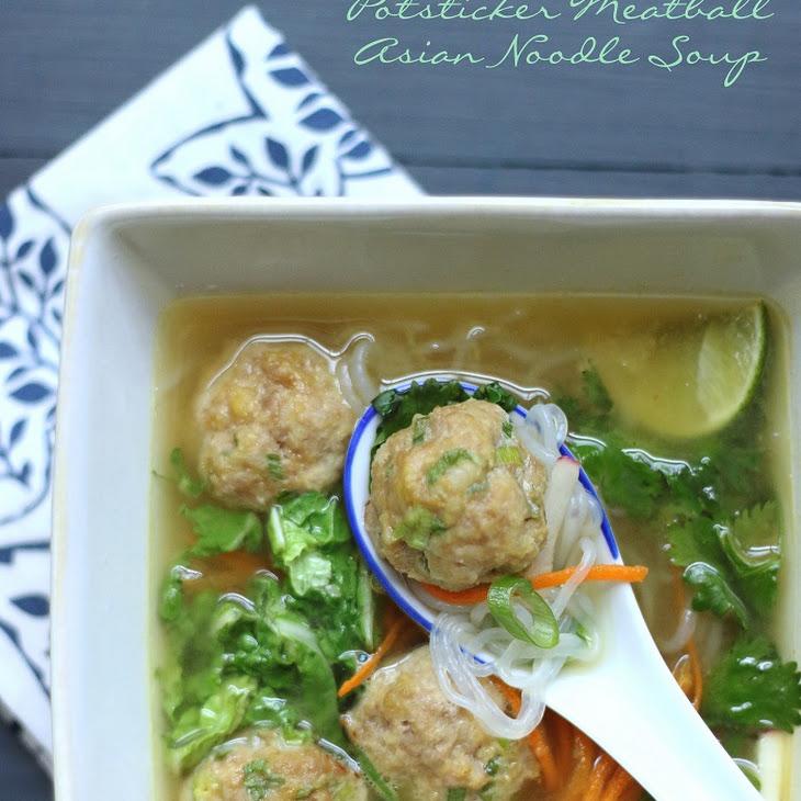 Potsticker Meatball Asian Noodle Soup – Low Carb & Gluten Free Recipe