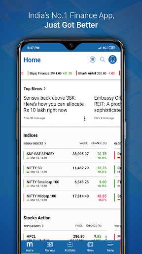 Moneycontrol Markets on Mobile screenshot 1