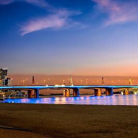 Blue Bridge by Ashraf Jandali - Buildings & Architecture Bridges & Suspended Structures