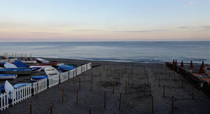 Spiaggia ormai deserta di Piera