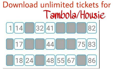Tambola ticket generator apkdebit screenshots 1