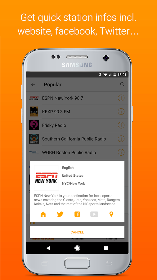 Receiver - Internet Radio- screenshot