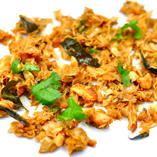 SCRAMBLED SALMON with ONION and GREEN CHILIES Recipe