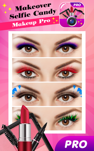 Makeover Selfie Candy Makeup Pro screenshots 3