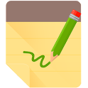 Notepad Writing Alarm Reminder icon