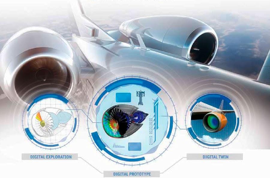 ANSYS - С помощью цифровых двойников аэрокосмическая отрасль может планировать техническое обслуживание двигателей