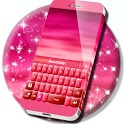 Pink Keyboard Hearts Glow icon