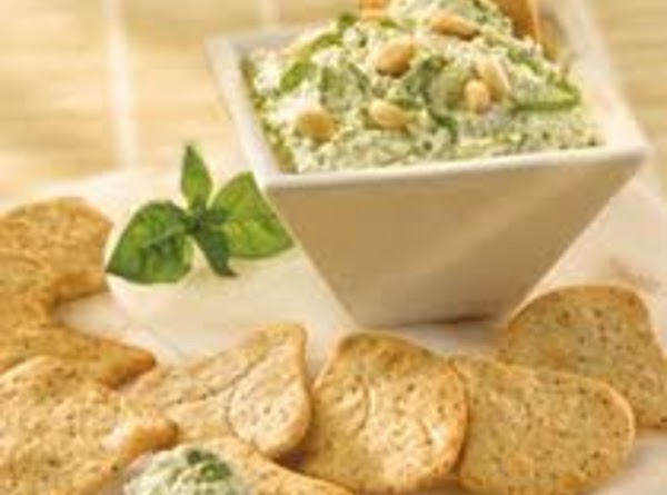Pesto Cottage Cheese Dip Recipe