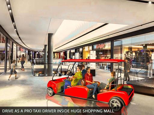 Shopping Mall Radio Taxi: Car Driving Taxi Games apkslow screenshots 12