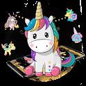 Gold Black Business Unicorn Theme icon