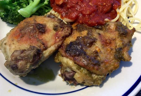 Pesto Chicken Thighs Recipe