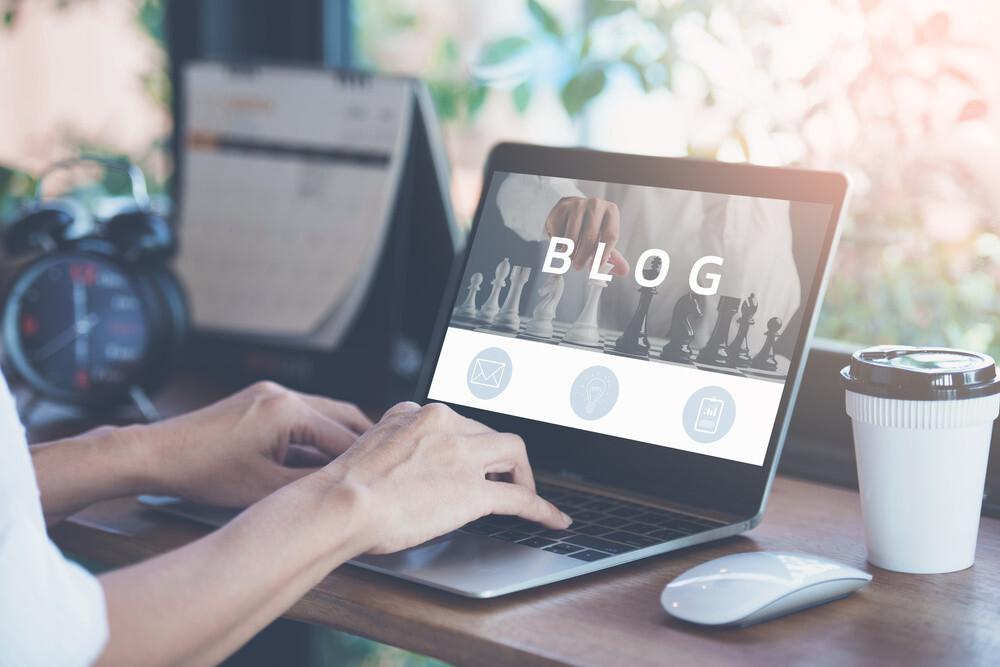 Ilustrasi blog dengan WordPress