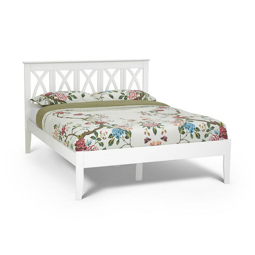 Serene Autumn Bed Frame White Double