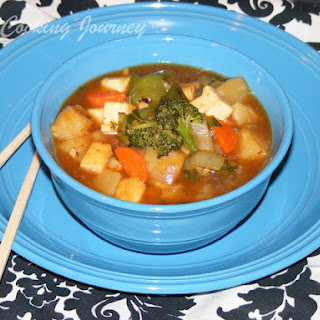 Sweet and Sour vegetable with Tofu.