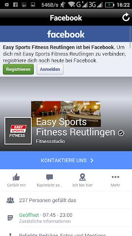 android easy sports Freizeitanlagen Screenshot 3