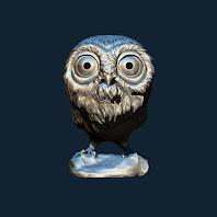 梟  フクロウ 3Dプリント