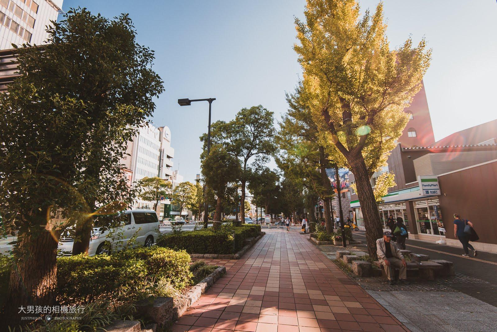 不得不說日本的街景真的怎麼拍都美,即便是一般的街道走在上面也是相當舒服。