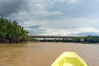 Photo: part of a huge bridge, several kilometers long built over a large swamp area