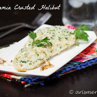 Macadamia Crusted Halibut.