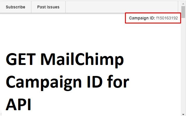 MailChimp Get Campaign ID
