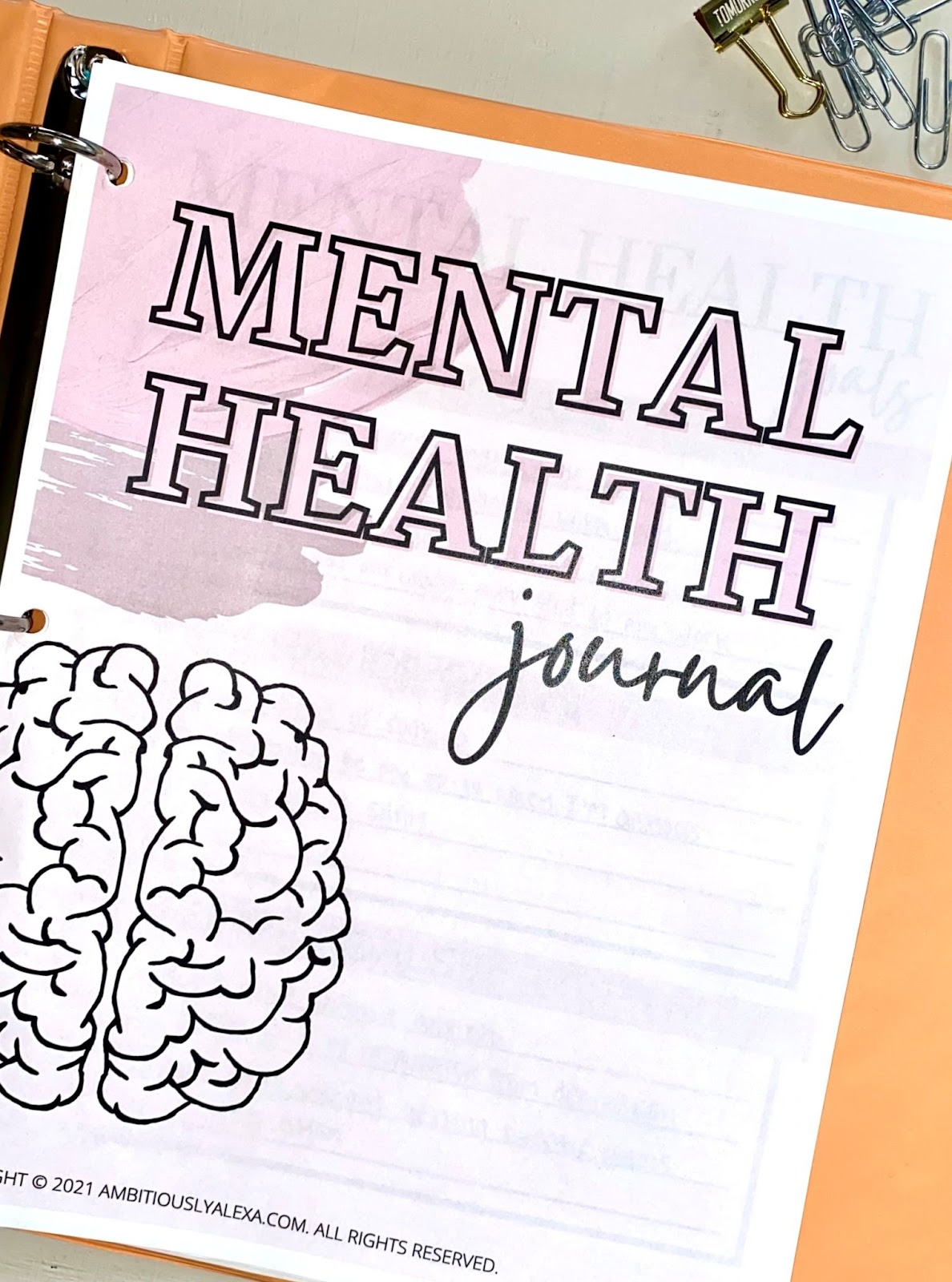 mental health printable journal prompts