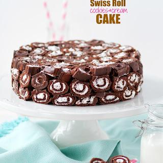 Swiss Roll Cookies and Cream Cake