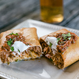 Chicken Chimichangas with Ranchero Sauce